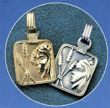 Gold or Silver Plated Zodiac Pendant - Virgo