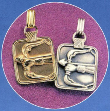 Gold or Silver Plated Zodiac Pendant - Sagittarius