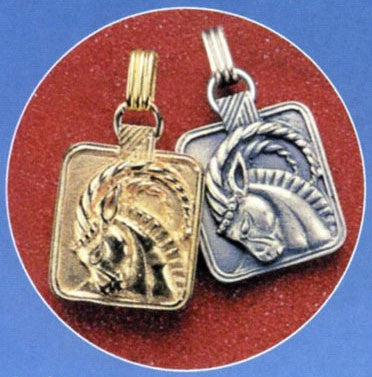 Gold or Silver Plated Zodiac Pendant - Capricorn