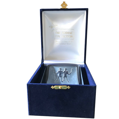 Swedish Crystal Zodiac Paperweight Deluxe - Gemini