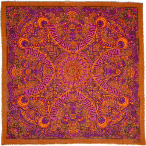 "Ken Scott - Silk/Wool Shawl 54"" x 54"""
