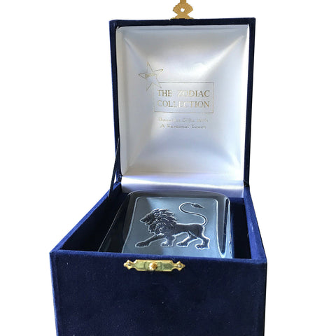 Swedish Crystal Zodiac Paperweight Deluxe - Leo