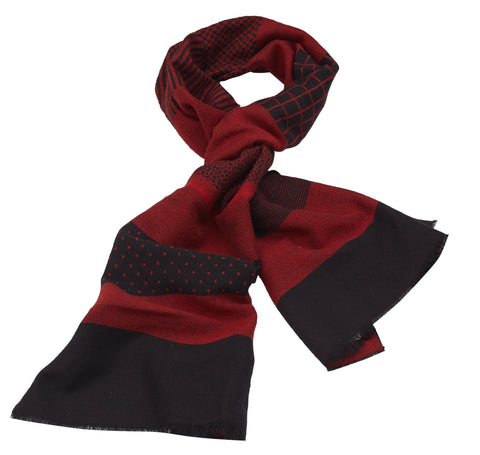 Rodier - Wool Striped Muffler Red/Black