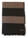 Rodier - Wool Striped Muffler Taupe/Black