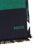 Rodier - Wool Striped Muffler Green/Navy