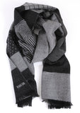 Rodier - Wool Striped Muffler Grey/Black