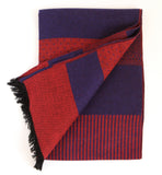 Rodier - Wool Striped Muffler Navy/Red