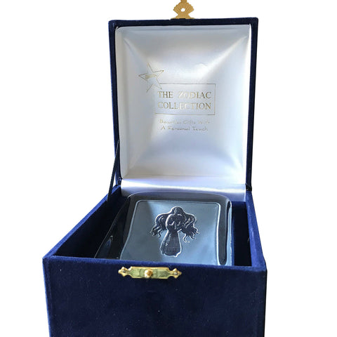 Swedish Crystal Zodiac Paperweight Deluxe - Virgo