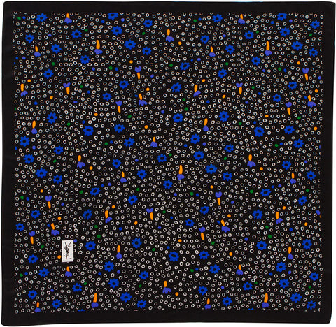 YSL - Silk Square - Dots - Blue
