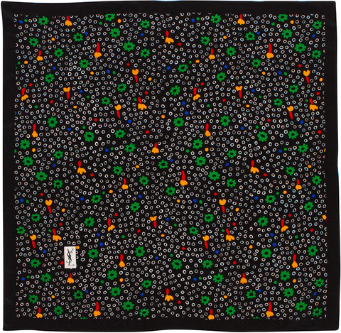 YSL - Silk Square - Dots - Green