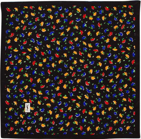 YSL - Silk Square - Fleurettes - Blue / Red / Yellow