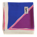 YSL - 100% Silk Square Geometric Block - Multi