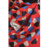 YSL - 100% Silk Square Hearts - Multi