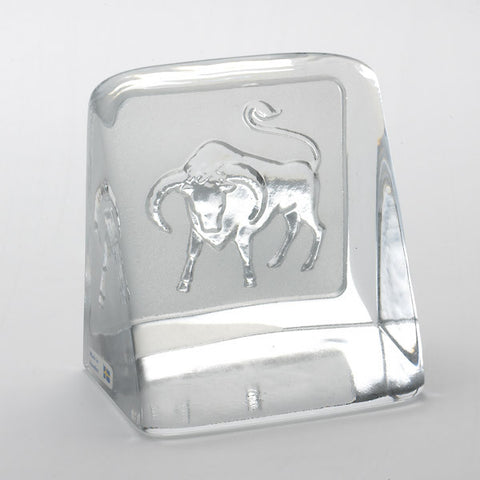 Swedish Crystal Zodiac Paperweight - Taurus