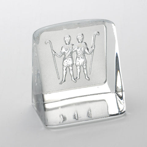 Swedish Crystal Zodiac Paperweight - Gemini