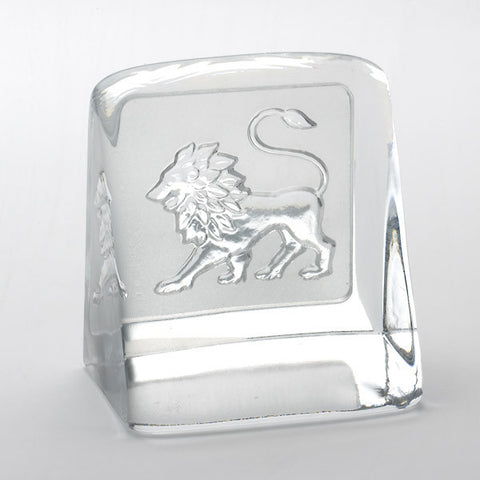 Swedish Crystal Zodiac Paperweight - Leo