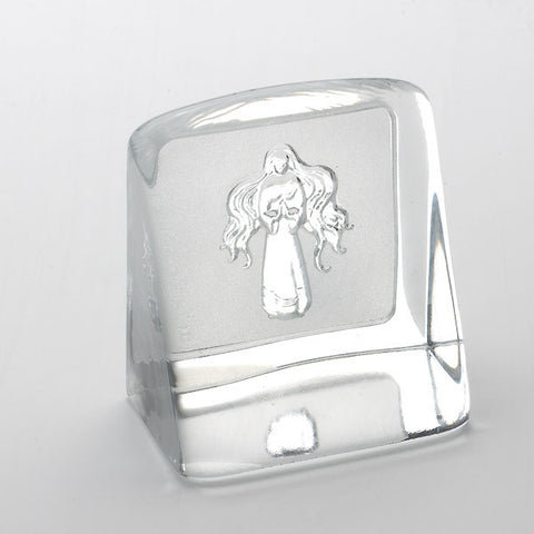 Swedish Crystal Zodiac Paperweight - Virgo