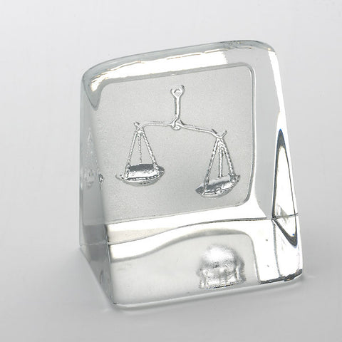 Swedish Crystal Zodiac Paperweight - Libra