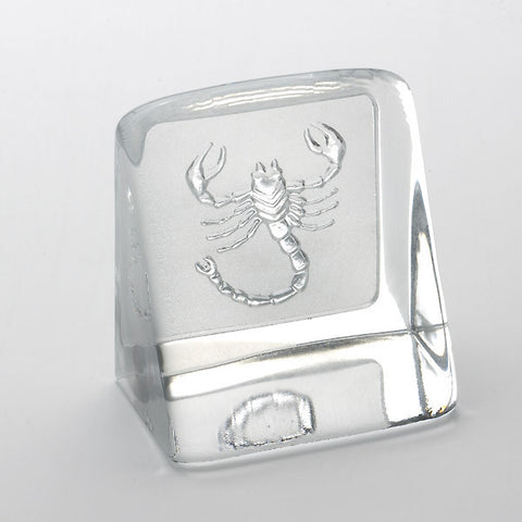 Swedish Crystal Zodiac Paperweight - Scorpio