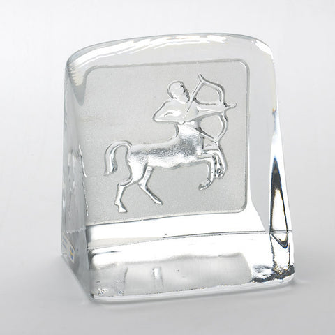 Swedish Crystal Zodiac Paperweight - Sagittarius