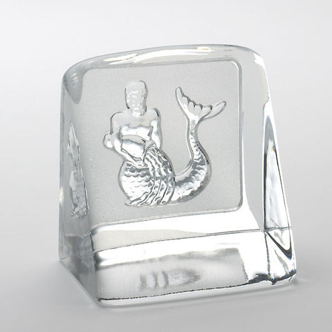 Swedish Crystal Zodiac Paperweight - Aquarius