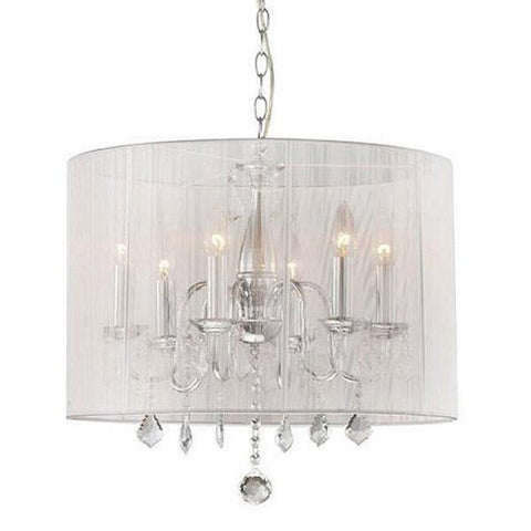 Tiffany Crystal 6-Light Chandelier