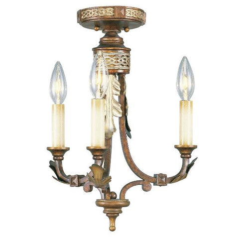3 Light Bristol Manor Chandelier