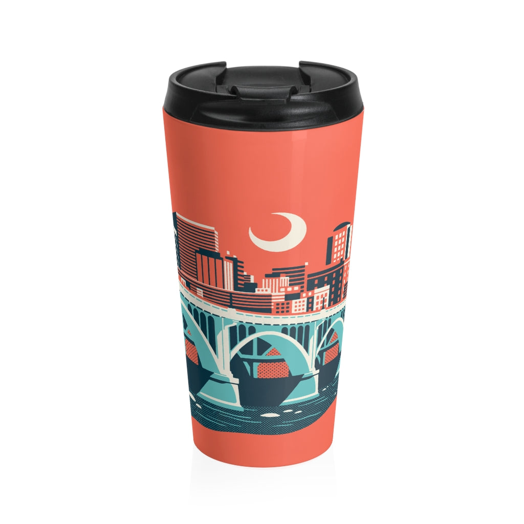 Landmark Series Stainless Steel Travel Mug - Gervais Street Bridge