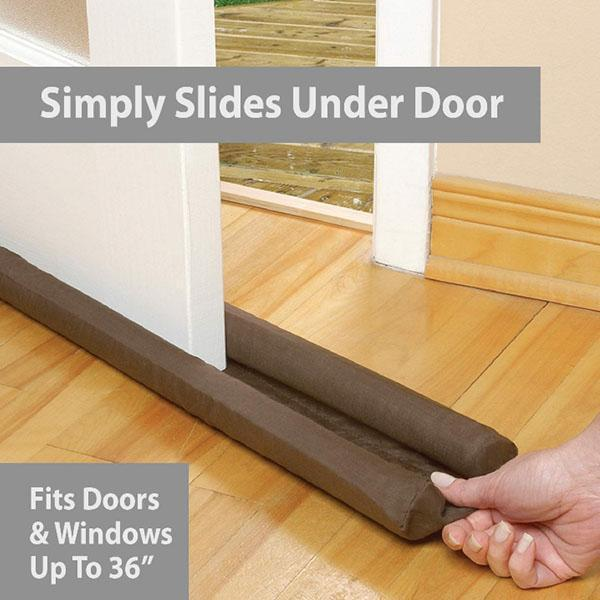 Windproof door seam seal