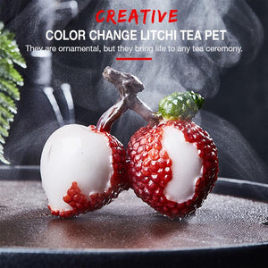 Creative Color Change Litchi Tea Pet