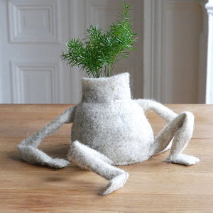 Pot à plantes conçu en laine upcyclée BennyWool Junior