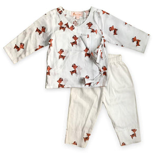 Pyjama Set in Angrakha style - Deer Joey Care