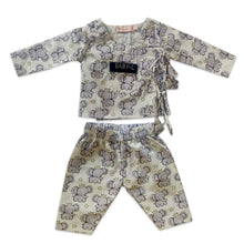 Load image into Gallery viewer, Pyjama Set in Angrakha style - White Elephant