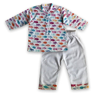 Pyjama set for boys and girls - Fish - JoeyCare