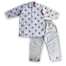Load image into Gallery viewer, Pyjama set for boys and girls : Red horse print Joey Care