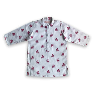 Pyjama set for boys and girls : Red horse print Joey Care