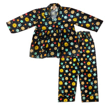 Load image into Gallery viewer, Pyjama set for Girls - Pleats Style Solar System Joey Care