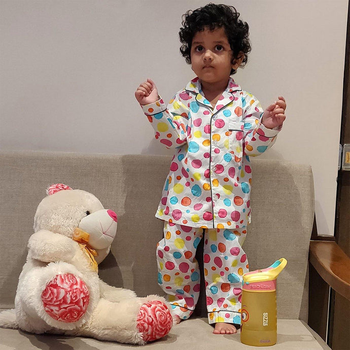 Pyjama set in Colorful Polka dots Joey Care
