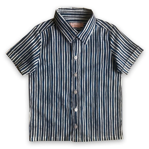 Shirts for boys and girls - Indigo Stripes Joey Care