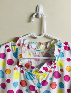 Nighty Gown for Girls and Women - Polka Print - JoeyCare
