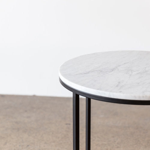 WHITE MARBLE Brooklyn table by Design Kiosk. Was $750 Now $562.00