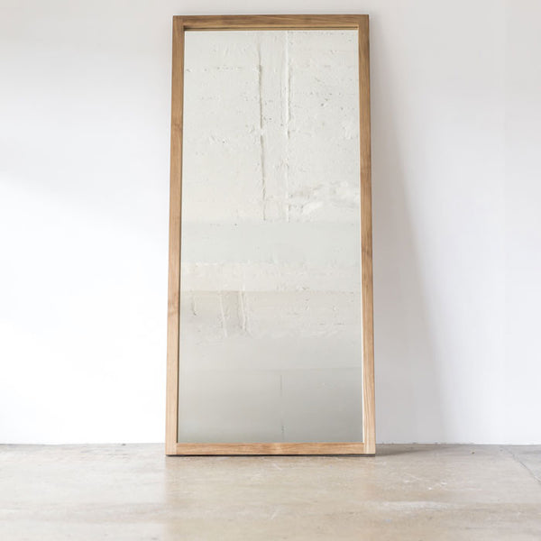 Teak Leaning Mirror by Ethnicraft