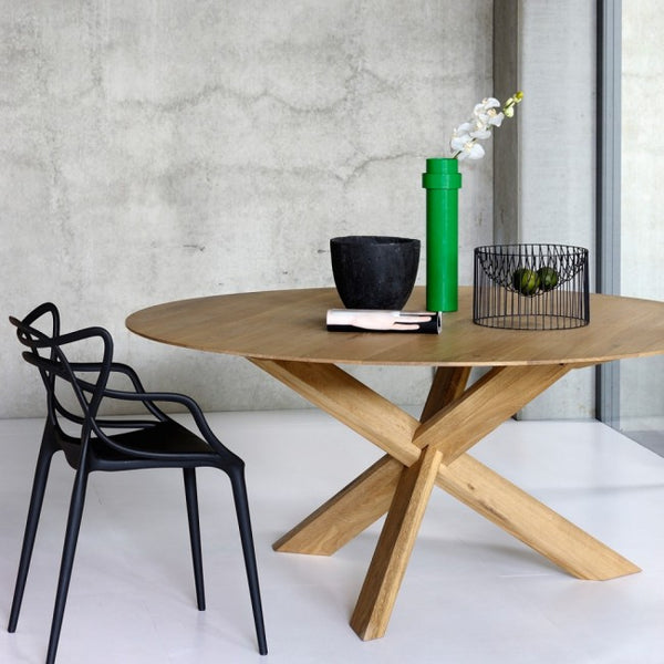 Oak Round Dining Table by Ethnicraft