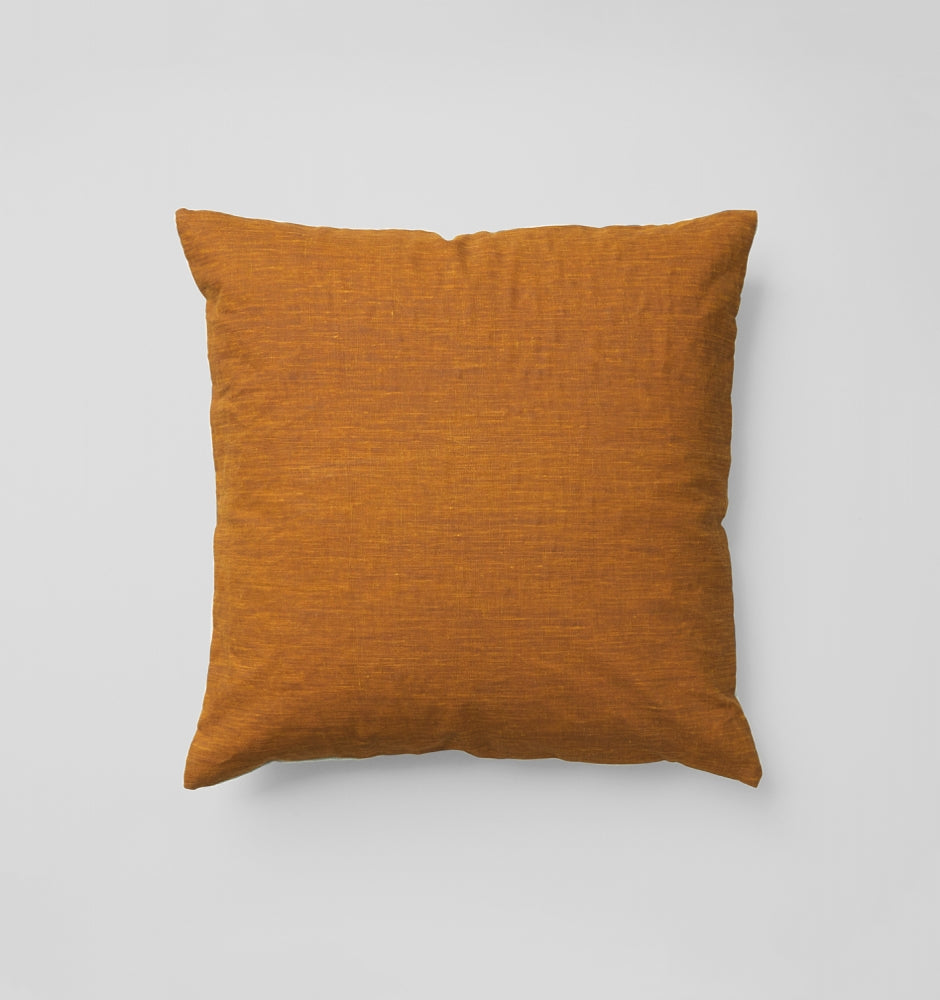 Ochre Square Cushion by Middle of Nowhere