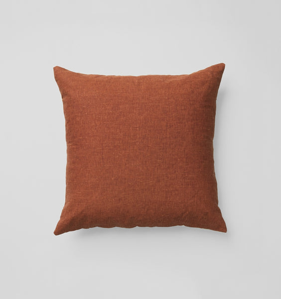 Rust Square Cushion by Middle of Nowhere