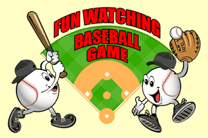 Fun Watching Baseball Game - Original