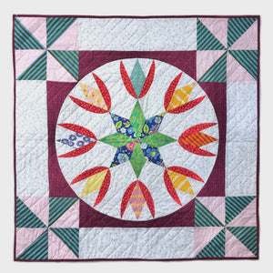 Cottage Tulip Wall Hanging Quilt