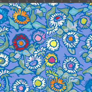 *NEW* Astrid Fabric - Buttonflowers Blue