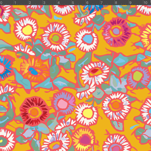 *NEW* Astrid Fabric - Buttonflowers Orange
