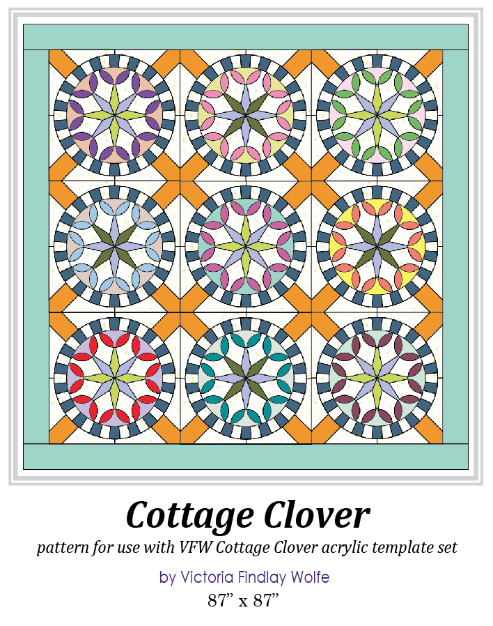 new cottage clover pattern instructions only victoria findlay